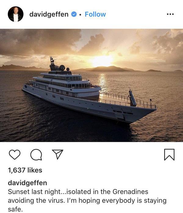 Tỷ phú Mỹ khoe ảnh cách ly trên du thuyền hơn nửa tỷ đô - Ảnh 3.