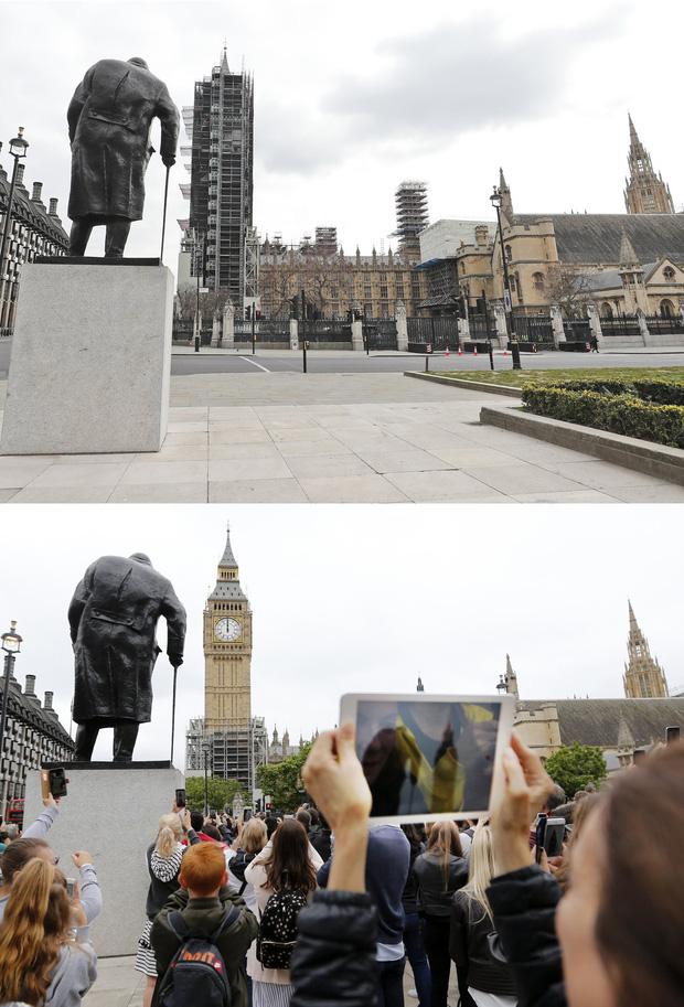 Loạt ảnh Before - After cho thấy London vắng lặng đến siêu thực sau lệnh phong tỏa để chống dịch Covid-19 - Ảnh 11.