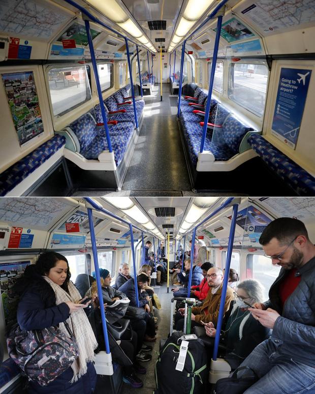 Loạt ảnh Before - After cho thấy London vắng lặng đến siêu thực sau lệnh phong tỏa để chống dịch Covid-19 - Ảnh 4.