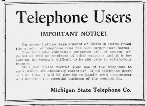Cách ly xã hội thời dịch 102 năm trước, vì sao các công ty 'cầu xin' khách hàng hạn chế sử dụng điện thoại hết mức có thể? - Ảnh 3.