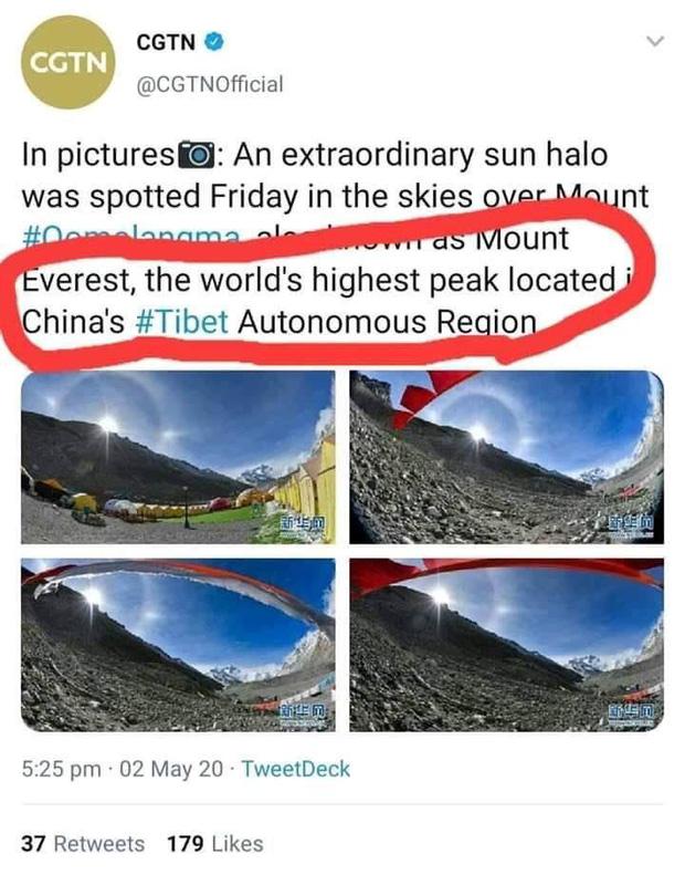 Truyền hình Trung Quốc nhận Everest là của mình, dân mạng Nepal       đăng đàn đòi lại - Ảnh 1.