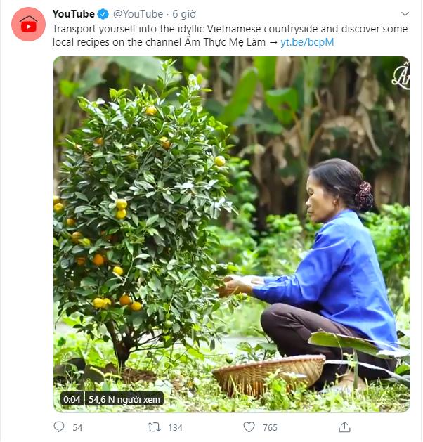 Kênh YouTube Ẩm thực mẹ làm của Việt Nam được chính YouTube giới thiệu với bạn bè quốc tế trên trang twitter  - Ảnh 1.