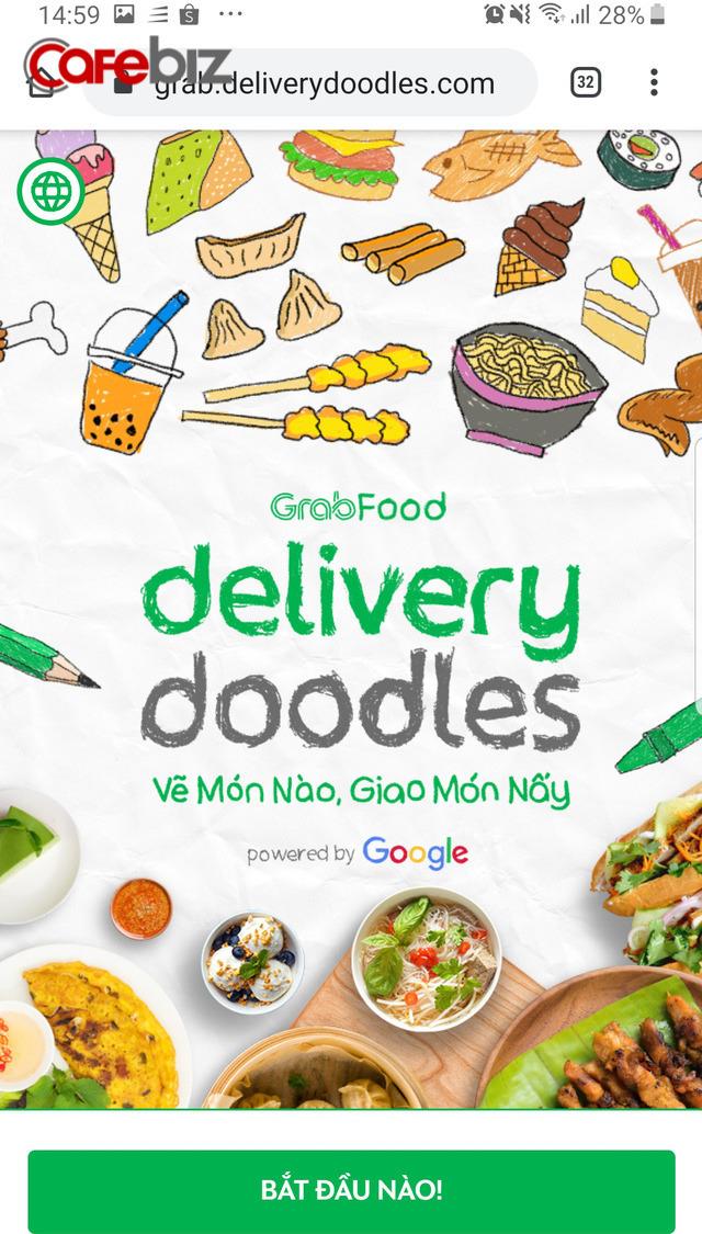 """Con vẽ món ăn bằng Doodle, GrabFood """"biến"""" thành món ăn nóng sốt - Ảnh 1."""