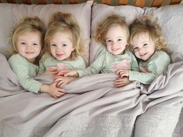 4 bé gái trong ca sinh tư giống hệt nhau vô cùng hiếm trên thế giới với tỷ lệ chỉ 1/70 triệu ca sau 3 năm đã có những thay đổi gây ngỡ ngàng - Ảnh 7.