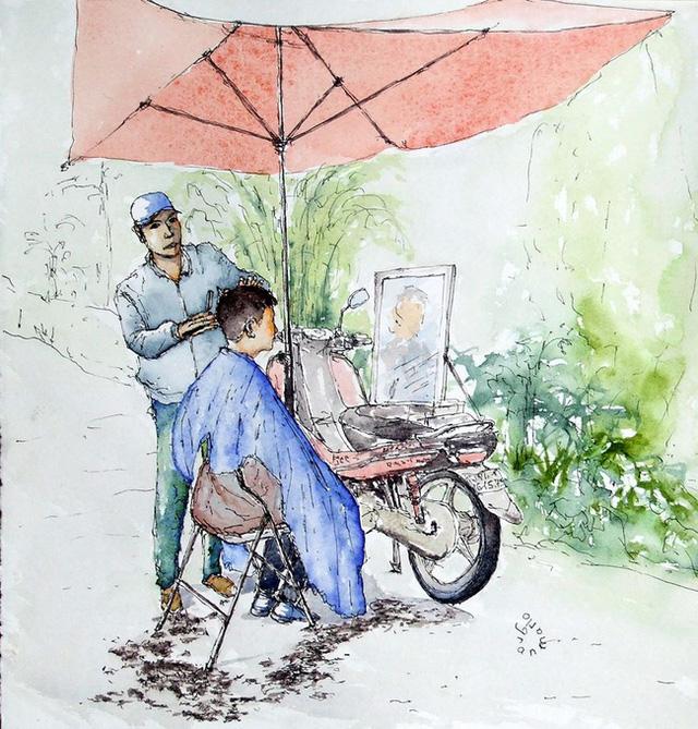 Bộ tranh đẹp quá Việt Nam ơi được vẽ bởi họa sĩ người Pháp, cộng đồng mạng quốc tế thích thú ngắm nhìn một nơi bình dị, an yên nhưng rất tươi đẹp  - Ảnh 2.