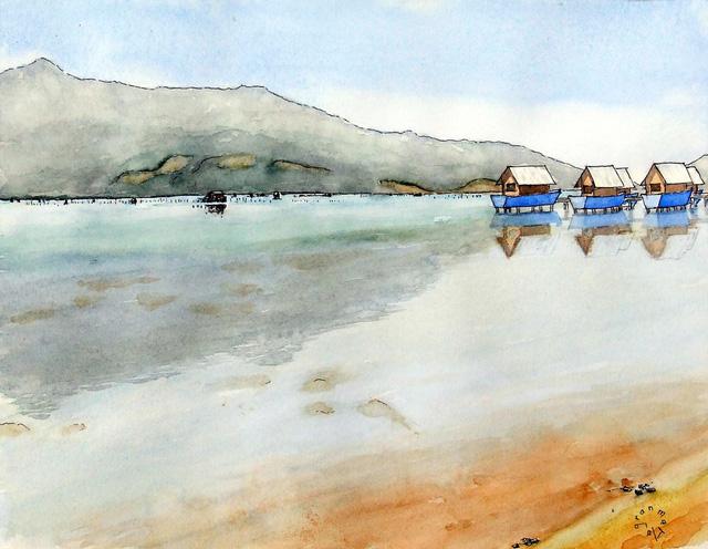 Bộ tranh đẹp quá Việt Nam ơi được vẽ bởi họa sĩ người Pháp, cộng đồng mạng quốc tế thích thú ngắm nhìn một nơi bình dị, an yên nhưng rất tươi đẹp  - Ảnh 5.