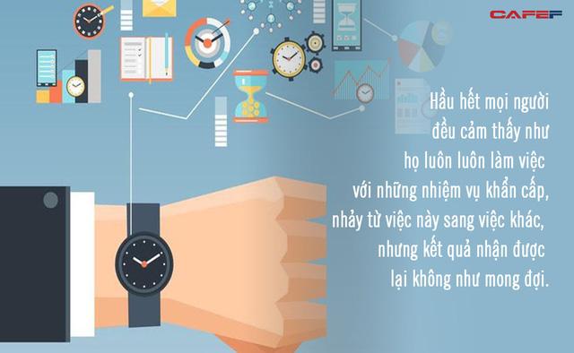 Bí quyết sử dụng ma trận thời gian của người làm việc hiệu quả: Không tiêu tốn vào những việc vô bổ, bạn sẽ tìm được công cụ thay đổi cuộc sống tuyệt vời  - Ảnh 2.