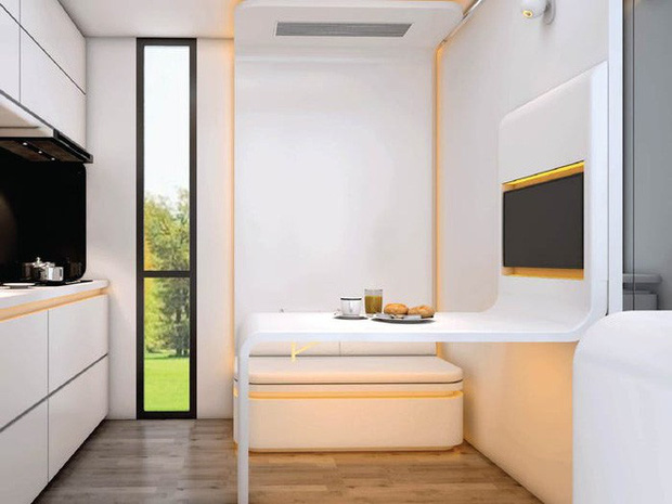 Ngôi nhà mini như bước ra từ phim viễn tưởng, gọn gàng nhưng đủ không gian cho gia đình 4 người - Ảnh 8.