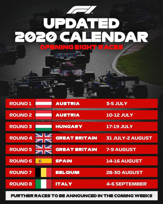 Giải F1 trở lại vào tháng 7: Không khán giả, các đội đua phải thuê máy bay riêng - Ảnh 1.