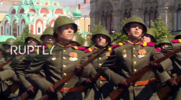 Mãn nhãn với màn duyệt binh hoành tráng nước Nga mừng 75 năm chiến thắng Thế chiến II: 14.000 binh sĩ, 234 khí tài cơ giới và 75 máy bay - Ảnh 19.