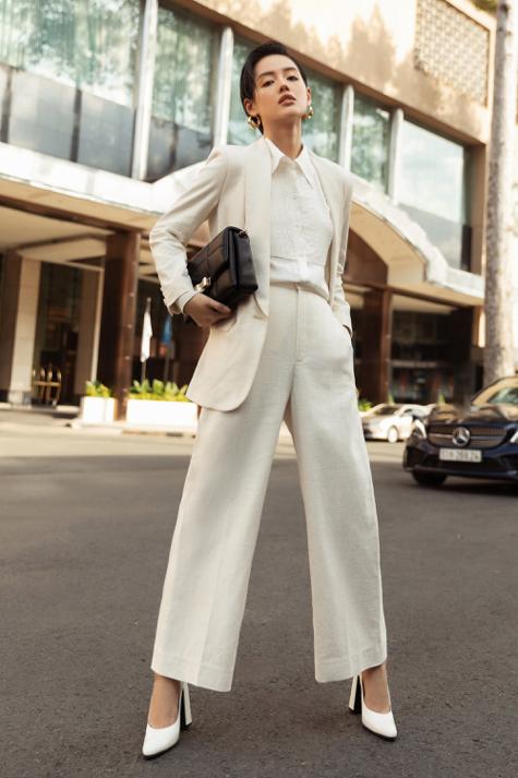 Ba fashionista đình đám biến hoá trong trang phục trắng tinh khiết của NTK Công Trí  - Ảnh 5.