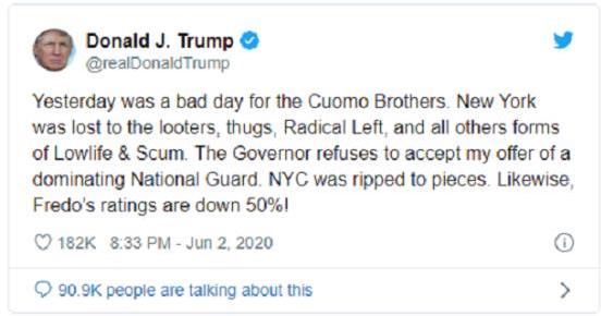 Ông Trump cảm ơn chính mình vì dẹp loạn ở Washington và Minneapolis  - Ảnh 1.