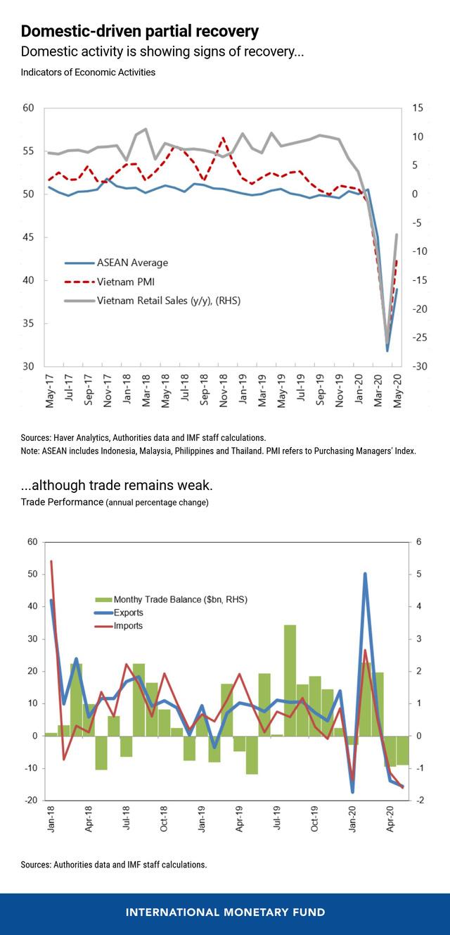 IMF: Tác động kinh tế của COVID-19 đến Việt Nam sẽ nhẹ hơn hầu hết các quốc gia trong khu vực  - Ảnh 1.