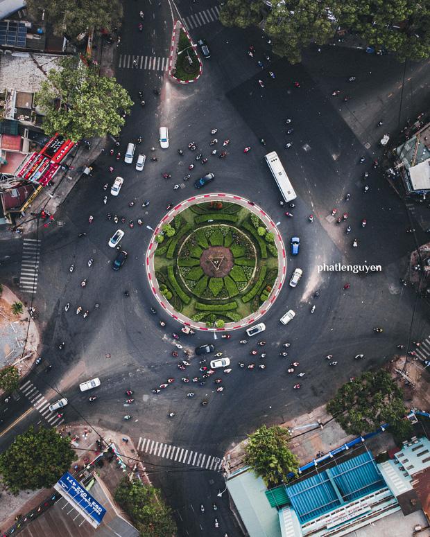 """Không tin vào mắt mình trước bộ ảnh chụp Sài Gòn từ trên cao đang """"gây bão"""" MXH: Xem hình, bạn đoán được đúng tên bao nhiêu địa điểm?  - Ảnh 27."""