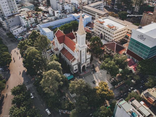 """Không tin vào mắt mình trước bộ ảnh chụp Sài Gòn từ trên cao đang """"gây bão"""" MXH: Xem hình, bạn đoán được đúng tên bao nhiêu địa điểm?  - Ảnh 33."""