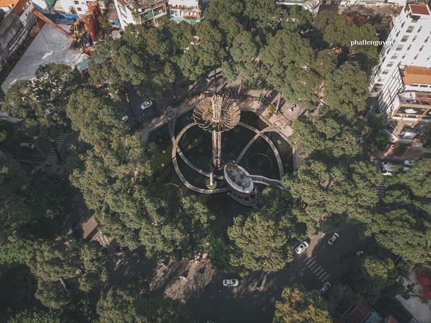 """Không tin vào mắt mình trước bộ ảnh chụp Sài Gòn từ trên cao đang """"gây bão"""" MXH: Xem hình, bạn đoán được đúng tên bao nhiêu địa điểm?  - Ảnh 5."""