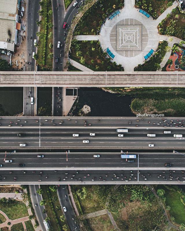 """Không tin vào mắt mình trước bộ ảnh chụp Sài Gòn từ trên cao đang """"gây bão"""" MXH: Xem hình, bạn đoán được đúng tên bao nhiêu địa điểm?  - Ảnh 10."""