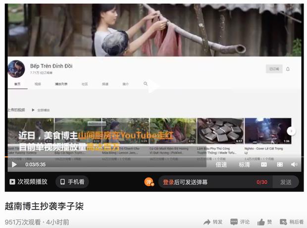 Netizen Trung Quốc lên án gay gắt một kênh Youtube Việt Nam vì nghi vấn đạo nhái Lý Tử Thất đến 80% - Ảnh 1.