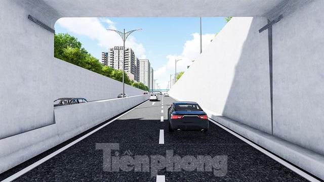 Hình ảnh thiết kế hầm chui Lê Văn Lương vượt ngầm Vành đai 3  - Ảnh 5.