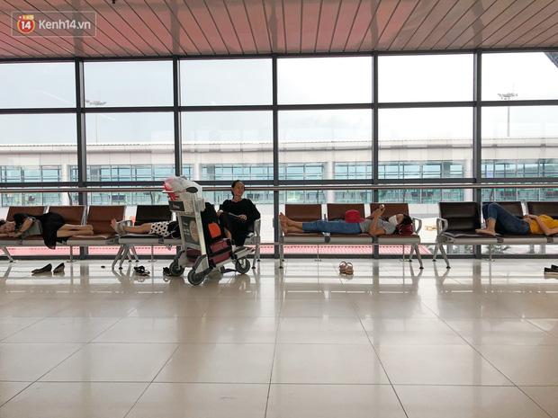 Chùm ảnh: Biển người xếp hàng, chờ làm thủ tục tại sân bay Nội Bài - Ảnh 9.