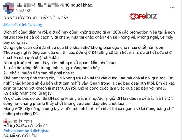 Cộng đồng mạng kêu gọi mọi người không huỷ tour, huỷ khách sạn, chỉ đổi ngày khởi hành để cứu du lịch Đà Nẵng - Ảnh 2.