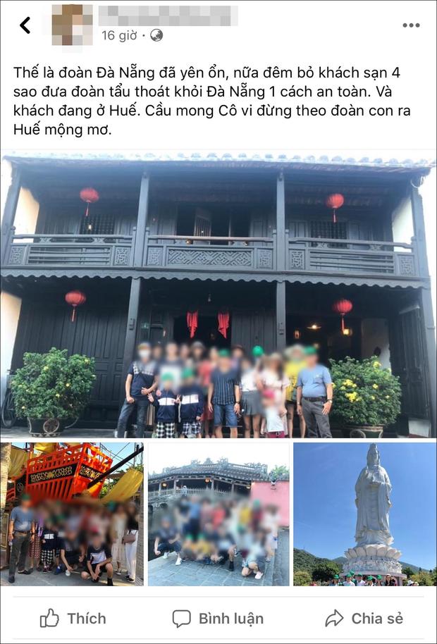 Hướng dẫn viên du lịch nhận loạt chỉ trích sau phát ngôn đưa đoàn khách tẩu thoát khỏi Đà Nẵng một cách an toàn - Ảnh 1.