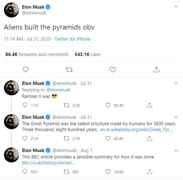 Ai Cập khẳng định kim tự tháp không phải do người ngoài hành tinh xây dựng, nhắn nhủ Elon Musk đừng nên chém gió - Ảnh 1.