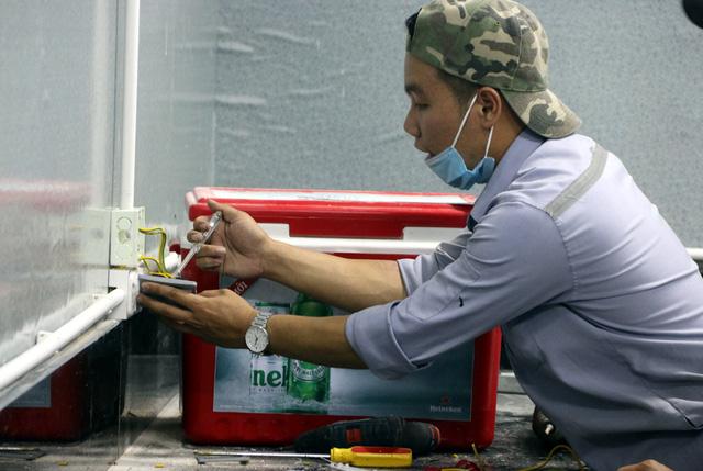 Hình ảnh bệnh viện dã chiến tại Đà Nẵng cơ bản hoàn thành sau 72h thi công thần tốc  - Ảnh 18.