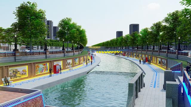 Đề xuất cải tạo sông Tô Lịch thành công viên lịch sử - văn hoá - tâm linh - Ảnh 1.