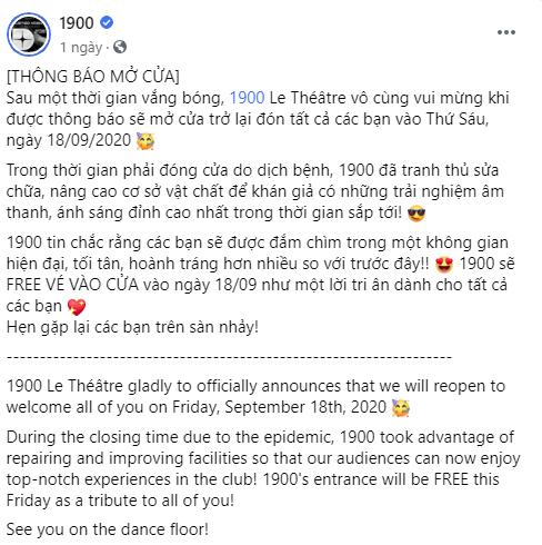 Tạm biệt sân chơi cầu lông mùa dịch, club 1900 Hà Nội chính thức trở lại: Mở cửa miễn phí cho khách trong Thứ 6 tuần này - Ảnh 1.