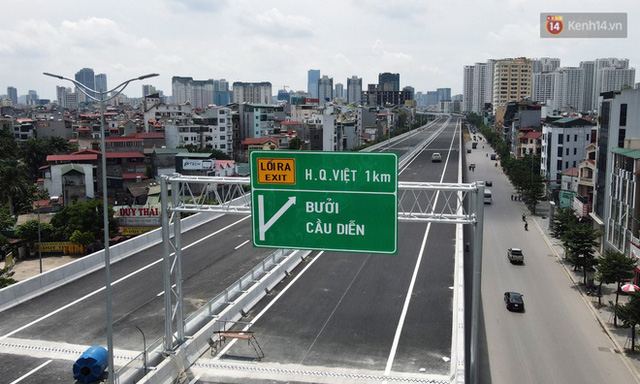 Cận cảnh cầu cạn Mai Dịch - Nam Thăng Long đã rải nhựa xong chờ ngày thông xe  - Ảnh 18.