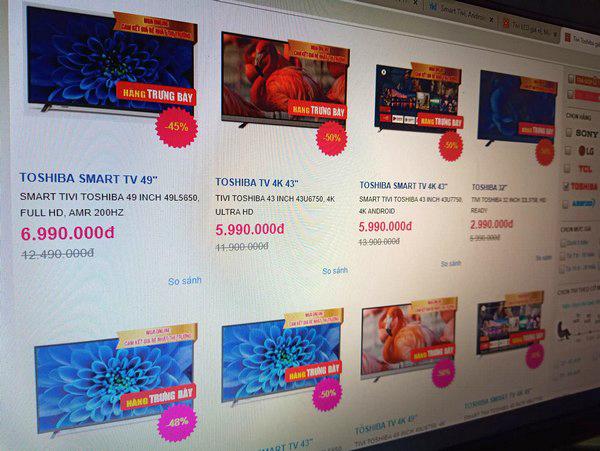Có nên mua smart TV giảm giá sốc tới 50%? - Ảnh 1.