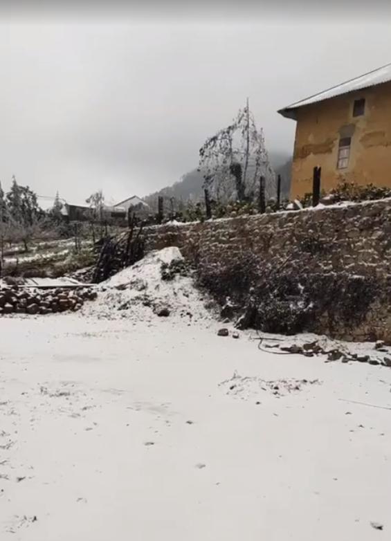 Những khoảnh khắc băng tuyết phủ trắng Y Tý - Sapa, hoa đào nở đóng băng đẹp như cổ tích là dịp vô cùng hiếm hoi để du lịch vào thời điểm này! - Ảnh 28.