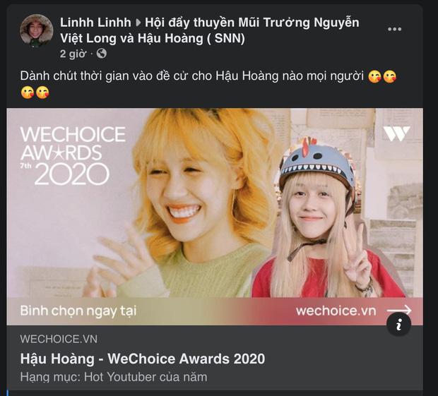 Cổng bình chọn WeChoice Awards 2020 vừa mở, dân tình đã kêu gọi vote ào ào tưng bừng trên MXH - Ảnh 6.