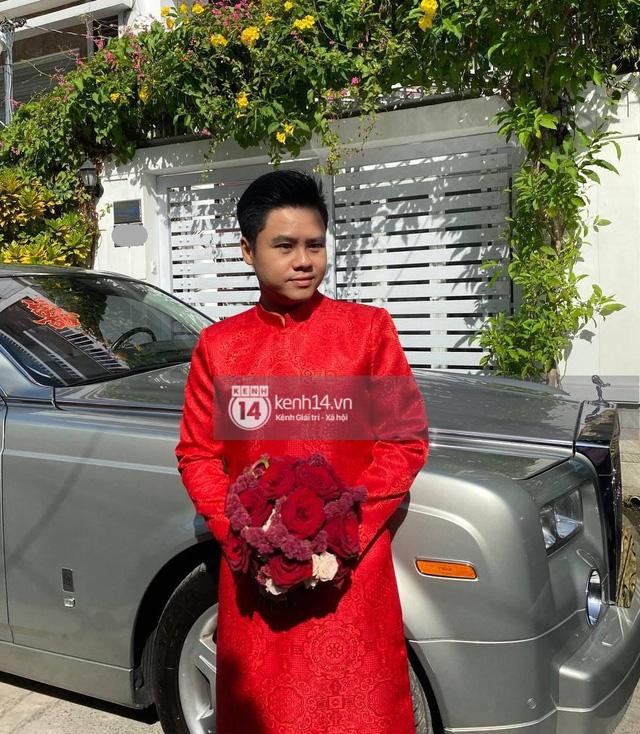 Dàn xe hơn 100 tỷ phục vụ đám cưới thiếu gia Phan Thành: Đủ loại Rolls-Royce, Maybach, Lexus đậu kín ngõ nhà cô dâu - Ảnh 3.