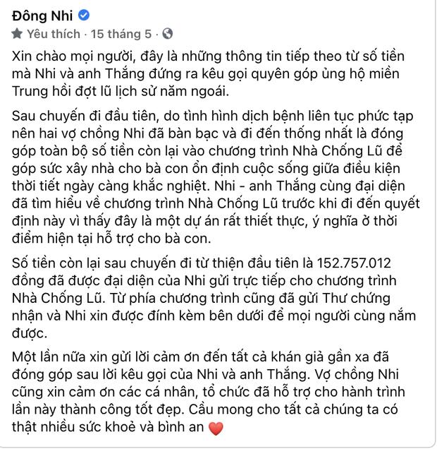 Phía Đông Nhi có động thái chính thức liên quan chuyện bị nữ CEO Đại Nam gọi tên nghi ngờ tiền từ thiện - Ảnh 3.