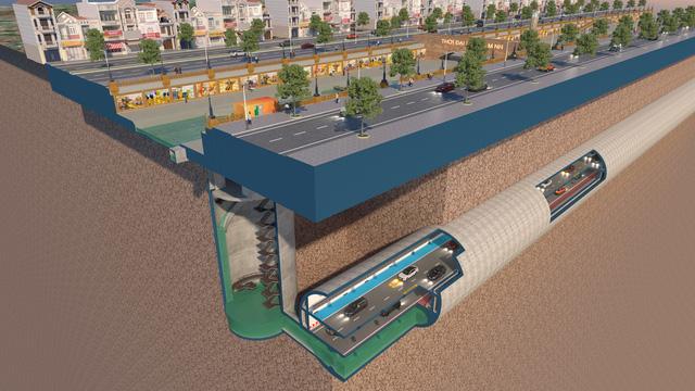 Đề xuất miễn phí lập quy hoạch hầm ngầm chống ngập kết hợp với cao tốc ngầm dọc sông Tô Lịch  - Ảnh 2.