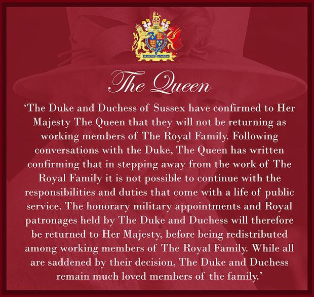 Sau khi bị Nữ hoàng Anh tước bỏ mọi thứ, nhà Meghan Markle đưa ra thông báo phản hồi có nội dung gây tranh cãi - Ảnh 1.