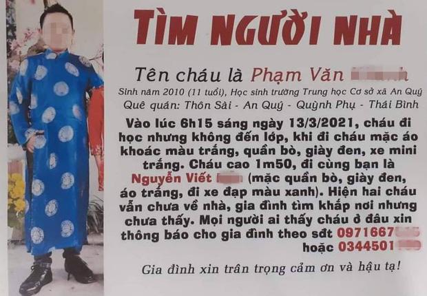 2 học sinh lớp 5 đạp xe 140km trốn nhà từ Thái Bình vào Thanh Hoá và câu chuyện xúc động phía sau - Ảnh 2.