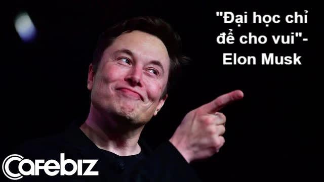 Elon Musk: Đại học cơ bản chỉ để cho vui  chứ không phải để học - Ảnh 1.