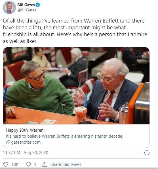 Không phải kinh nghiệm đầu tư, đây là điều quan trọng nhất Bill Gates học được từ Warren Buffett - Ảnh 1.
