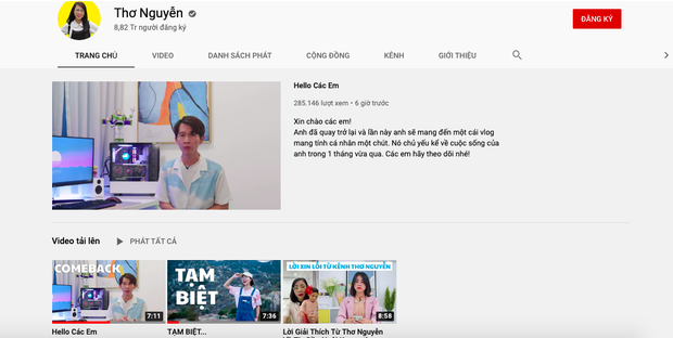 Kênh Youtube Thơ Nguyễn mở trở lại, Sở Thông tin và Truyền thông Bình Dương nói gì? - Ảnh 1.