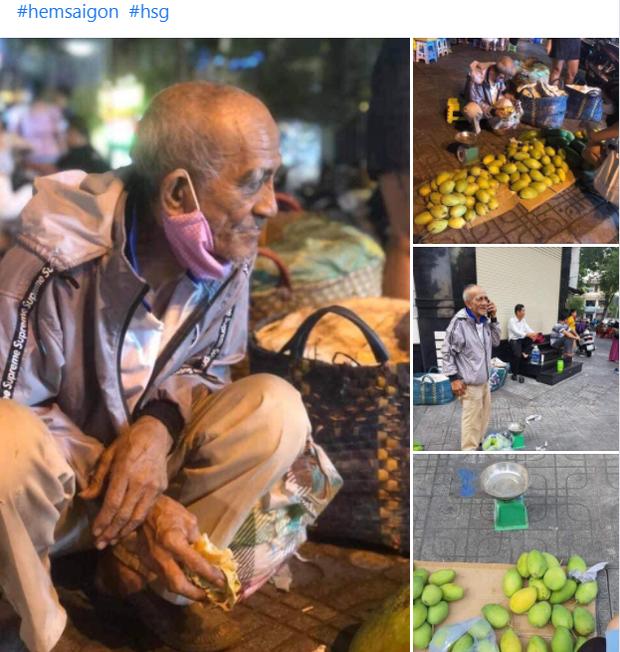 Đằng sau bức ảnh cụ ông bên đống trái cây ế là tấm lòng thơm thảo của người Sài Gòn: Ở đây người ta thương tui dữ lắm - Ảnh 1.