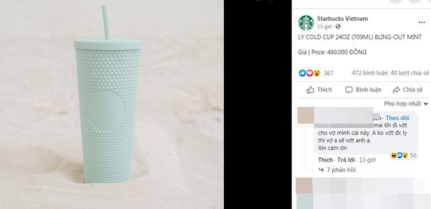 Choáng: Người Sài Gòn 6h sáng xếp hàng dài trước cổng Starbucks để săn chiếc ly màu xanh với giá 500k, sau chưa đầy 4 tiếng bán lại đã tăng giá gấp 4 lần - Ảnh 1.