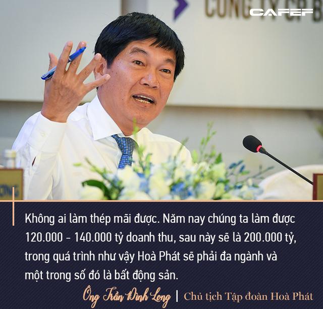 Tỷ phú Long: Không ai làm thép mãi được. Doanh thu sau này 200.000 tỷ thì Hòa Phát phải đa ngành, trong đó có bất động sản - Ảnh 8.