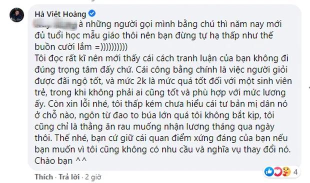 Câu: Sinh viên Ngoại thương không được quyền đòi lương 2.000 USD bị chê bai, cả Lương Thùy Linh lẫn Hà Việt Hoàng lên tiếng đáp trả cực gắt - Ảnh 6.
