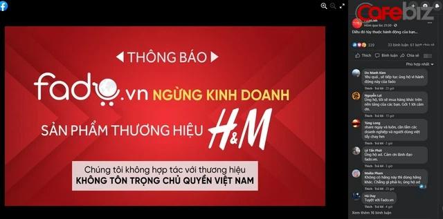 Một sàn TMĐT Việt ngừng kinh doanh H&M, tuyên bố không hợp tác với thương hiệu không tôn trọng chủ quyền Việt Nam - Ảnh 2.