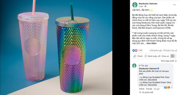 HOT: Vừa thông báo tung ra bộ đôi cốc mới vào sáng sớm, Starbucks đã khiến dân tình xếp hàng dài săn lùng, giá bán lại bị hét lên gấp 2 lần? - Ảnh 1.