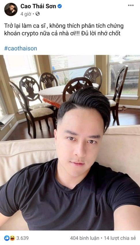 Thắng lớn từ Dogecoin và Shibacoin, ca sĩ Cao Thái Sơn quyết định trích một phần lợi nhuận làm từ thiện  - Ảnh 1.