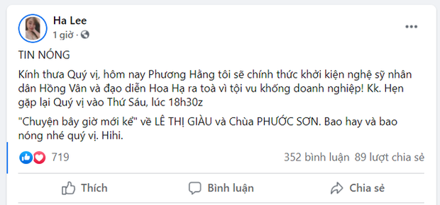 Học hỏi chiêu cao tay của NS Hoài Linh, NSND Hồng Vân có động thái mới trước tuyên bố khởi kiện của bà Phương Hằng: Đó là gì? - Ảnh 3.